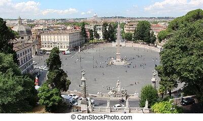 Piazza del Popolo - Shot of Piazza del Popolo