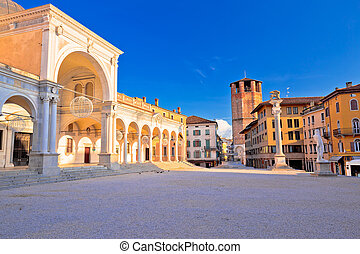 Piazza della Liberta square in Udine landmarks view,...