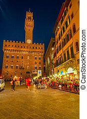 Piazza Della Signoria & Palazzo Vecchio at Night