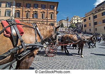 Piazza di Spagna in Rome, Italy - Piazza di Spagna, Rome,...