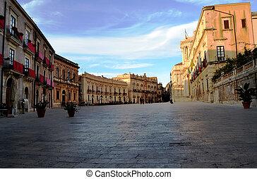 Piazza Duomo in Ortigia, Syracuse
