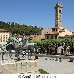 Piazza in italian town Fiesole
