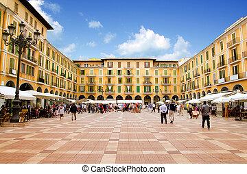 piazza, mallorca, de, bürgermeister, palma, mallorca