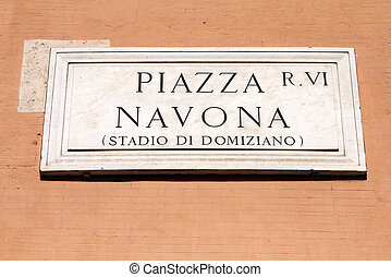 Piazza Navona - one of the most famous squares in the world,...