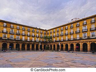piazza, nueva, in, bilbao