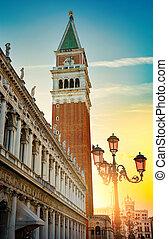 Piazza San Marco at sunrise