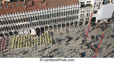 piazza san marco - St Marc\'s square aerial view from the...
