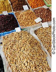 piazza, secado, frutas, lugar, bazar, mercado