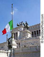 Piazza Venezia in central Rome,