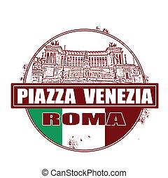 piazza venezia stamp