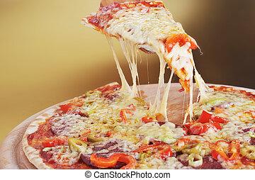 pica slice close up
