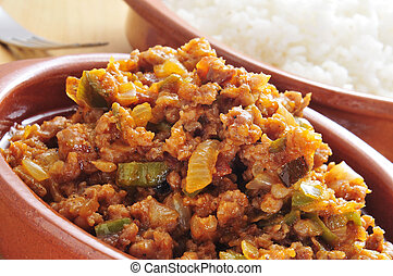 picadillo, traditional dish in many latin american countries...