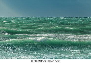 picado, mar