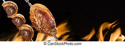 Picanha and cupim, traditional Brazilian barbecue.