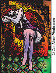 picaso, 摘要, 婦女, 相象, 形式
