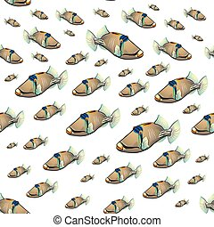 picasso, triggerfish, patrón