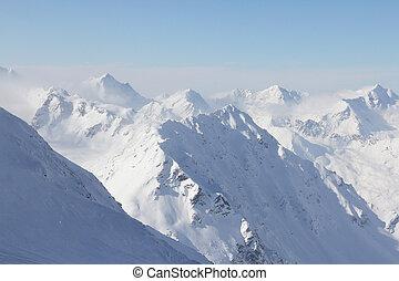 picchi, di, montagne