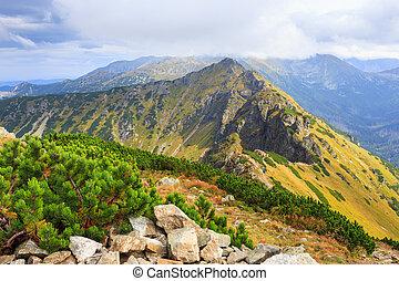 picchi, tatra, polonia, montagne rosse