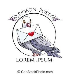 piccione, palo, emblema