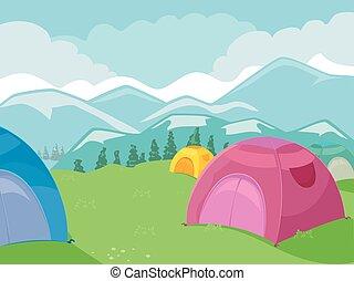 picco montagna, campeggio