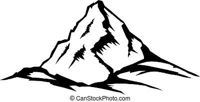 picco montagna, paesaggio, serie