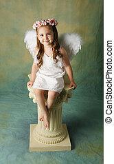 piccola ragazza, angelo