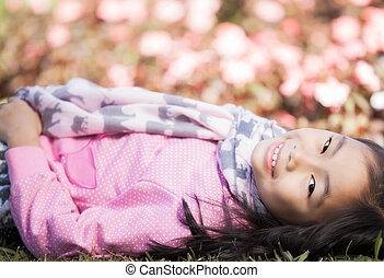 piccola ragazza, asiatico
