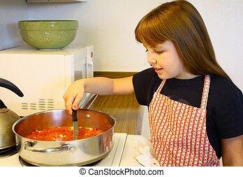 piccola ragazza, cottura