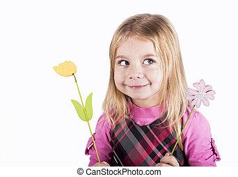 piccola ragazza, felice