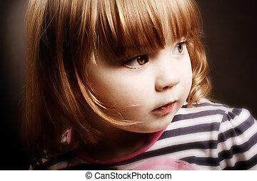 piccola ragazza, splendido