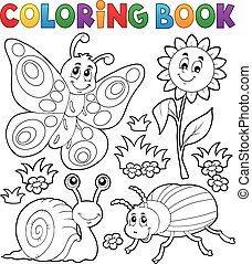 piccolo, 3, coloritura, animali, libro