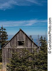 piccolo, alterato, cabina, alto, su, parte superiore montagna