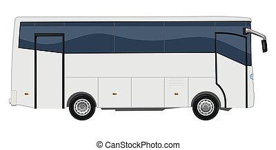 piccolo, autobus, passeggero