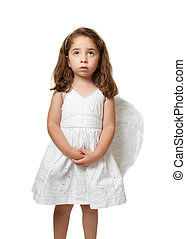 piccolo bambino, dall'aspetto, angelo, cielo, serenamente