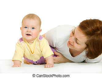 piccolo, bambino, madre