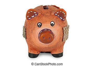 piccolo, banca piggy, argilla