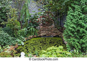 Bello giapponese classico giardino bello giardino for Piccolo stagno
