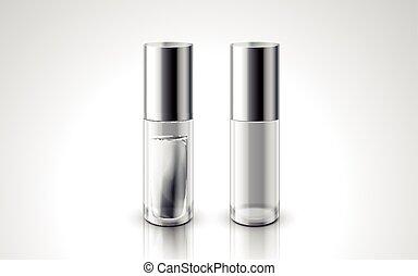 piccolo, bottiglie, cosmetico