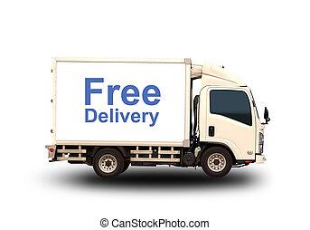 piccolo, camion, con, libero, consegna