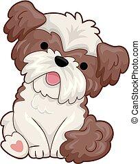 piccolo cane, illustrazione