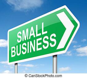 piccolo, concept., affari