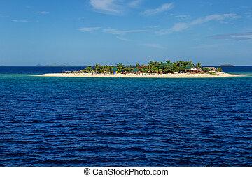 piccolo, isola marittima meridionale, in, gruppo isola mamanuca, figi