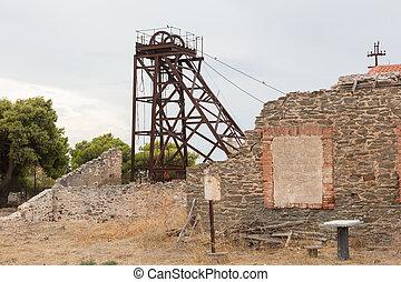 piccolo, miniera, abbandonato, grecia