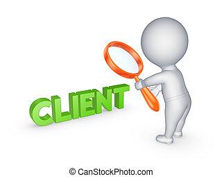 piccolo, persona, e, parola, client.