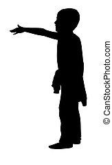 piccolo ragazzo, silhouette