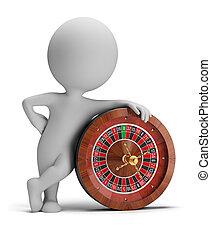 piccolo, roulette, 3d, -, persone