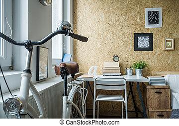 piccolo, stanza, disposizione