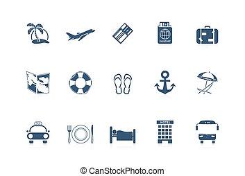 piccolo, -, vacanza, icone