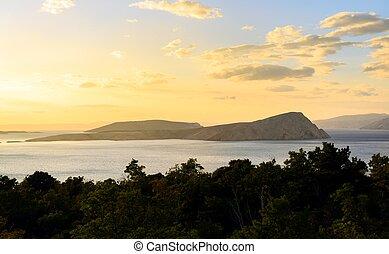 piccolo, vista scenica, isola