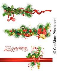 picea, feriado, árbol, decoraciones